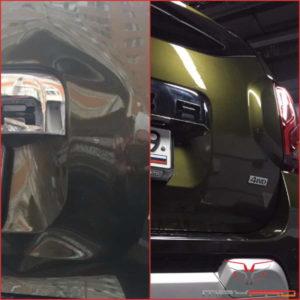 Удаление вмятины на багажнике без покраски на Renault Duster