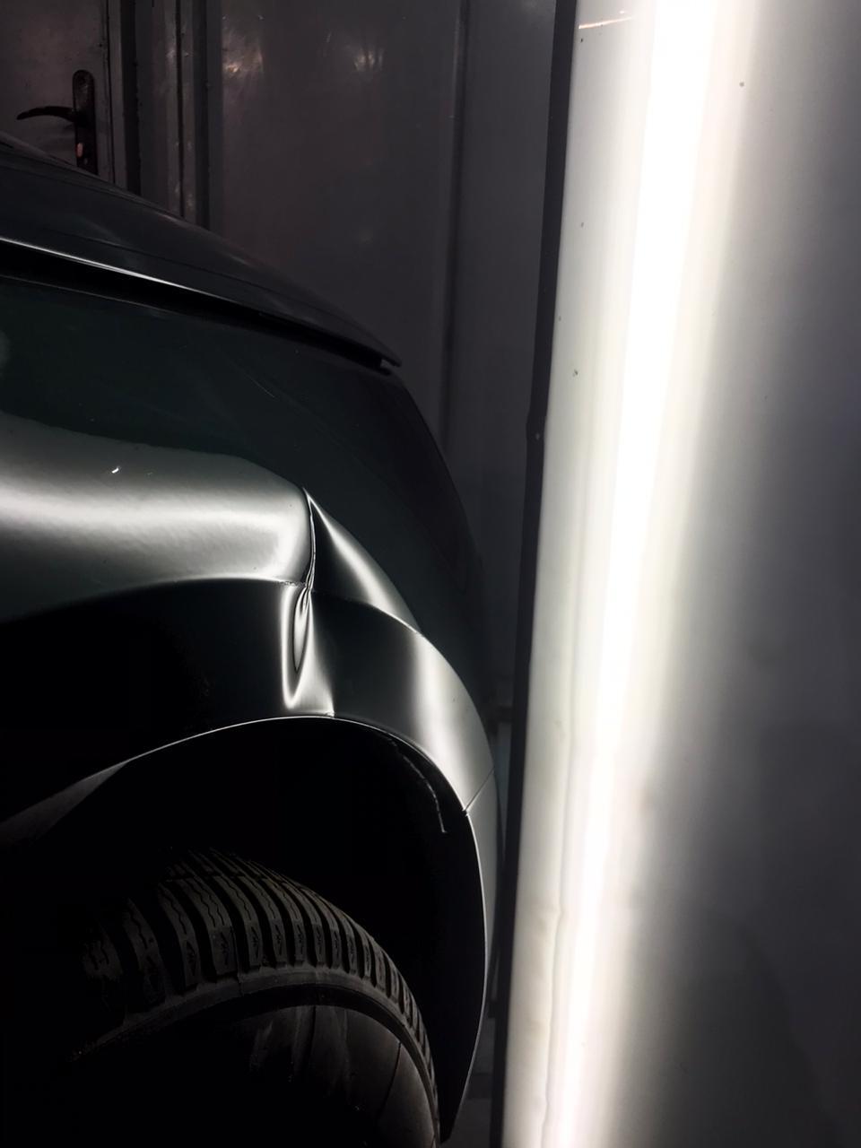 Ремонт вмятины на Audi A4 до фото